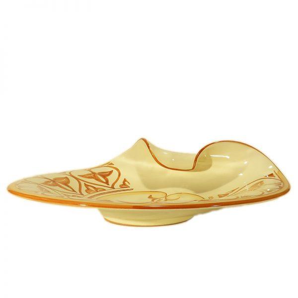 elegante piatto centrotavola in ceramica arte toscana, elegant plate centerpiece in ceramic tuscany art