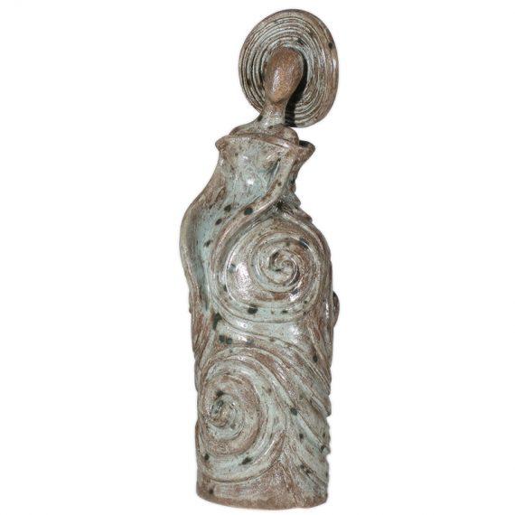 Paris, ceramic sculpture. One of a kind unique piece sculpture