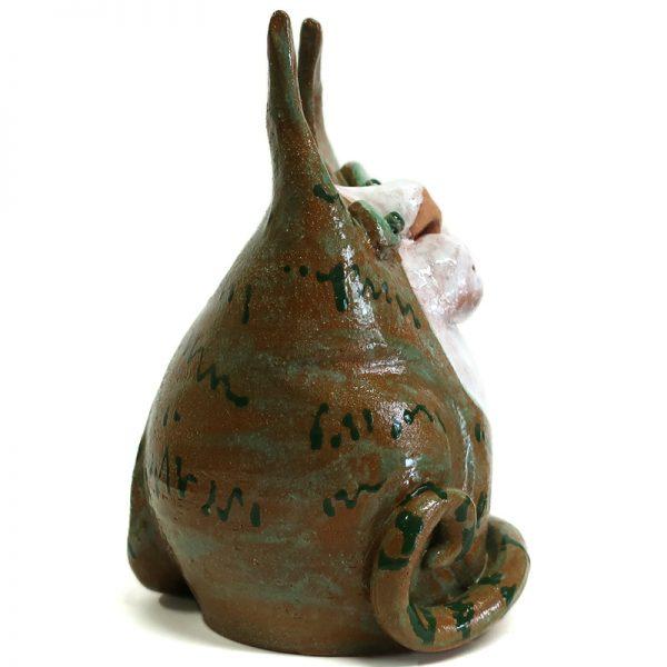 gatto ceramica arte ceramica made in italy, cat in pottery ceramic art made in italy