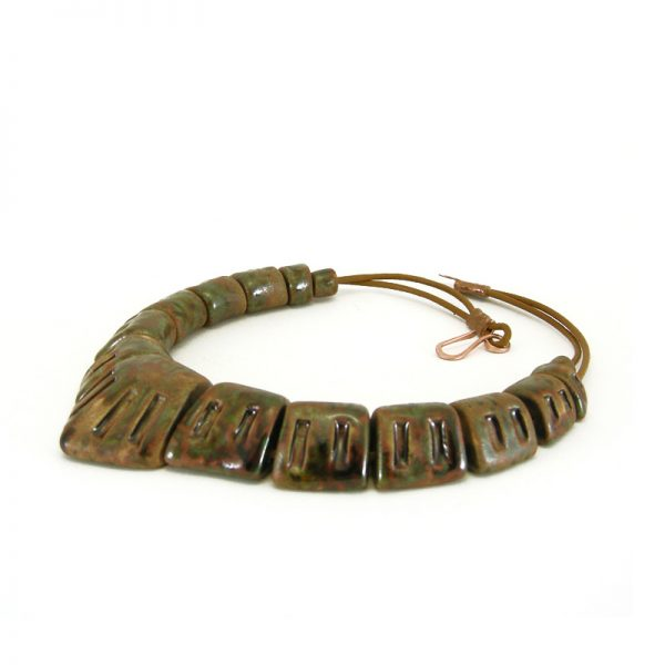 girocollo marrone, brown choker necklace