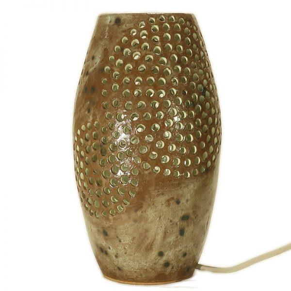 lampada artistica in ceramica made in tuscany, artistic table lamp in ceramic