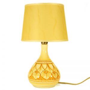 lampada da comodino in ceramica dipinta a mano in toscana, bedside lamp handpainted ceramic tuscany