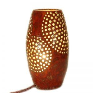 lampada in ceramica artigianato toscana, pottery lamp hanmade in tuscany