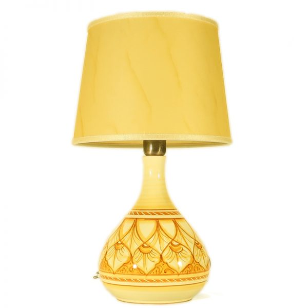 lampada in ceramica da comodino terra di siena, ceramic bedside lamp burnt sienna