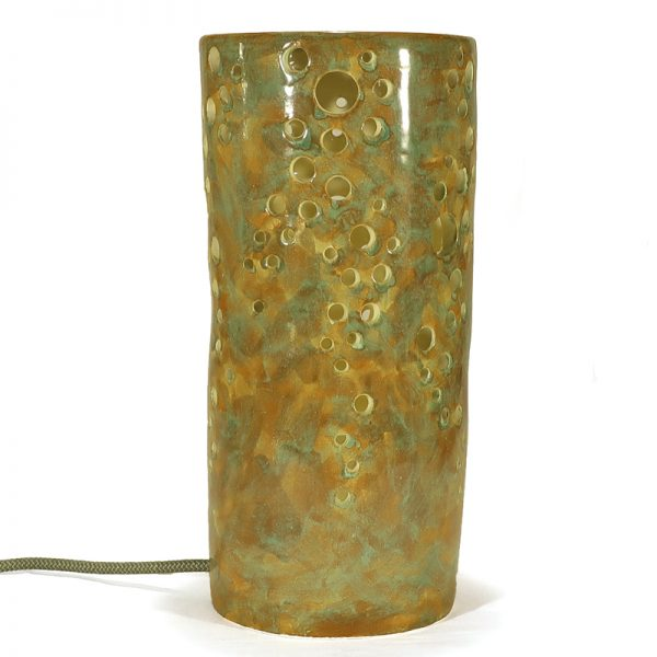 lampada minimalista ceramica artigianale toscana, tuscany handmade ceramic lamp