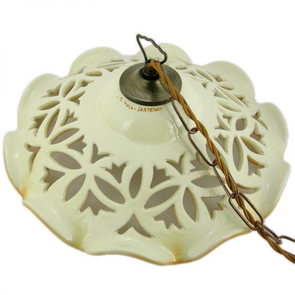lampada sospenione ceramica, ceramic pendant lamp