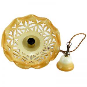 lampadario intagliato, carved pendant lamp