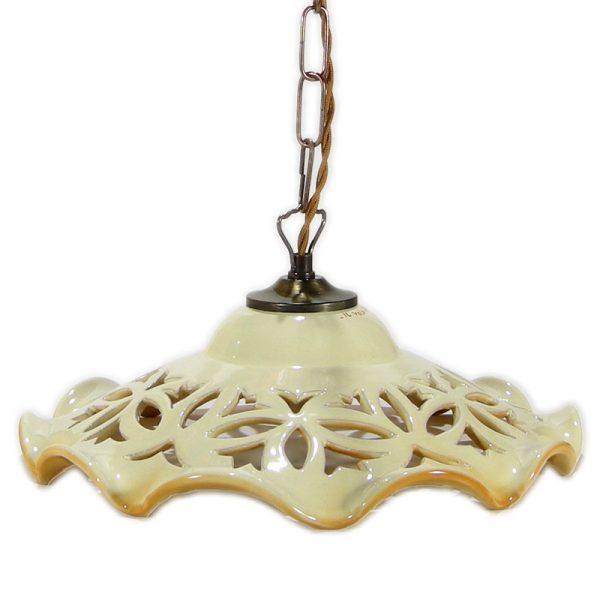 lampadario ceramica, lampshade in pottery