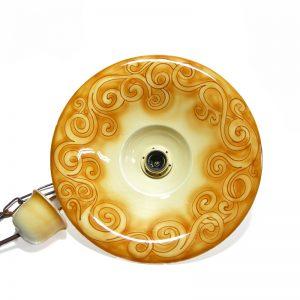 lampadario spirali, pendant lamp with spirals