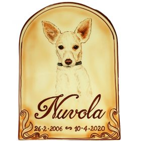 lapide commemorativa per cane o gatto placca in ceramica, ceramic tombstone for dog or cat