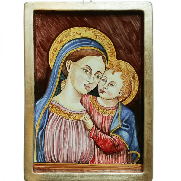 madonna dipinta a mano, handpainted madonna in pottery