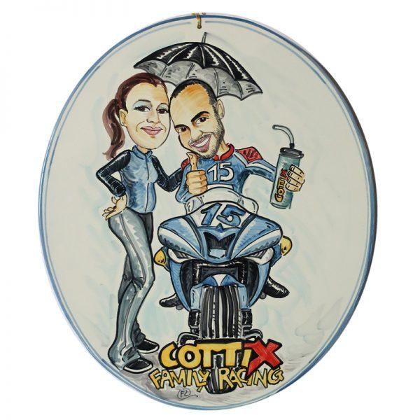 mattonella personalizzata dedica ricordo regalo su misura, personalized souvenir ceramic plate