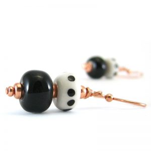 orecchini pois ceramica, ceramic earrings with dots