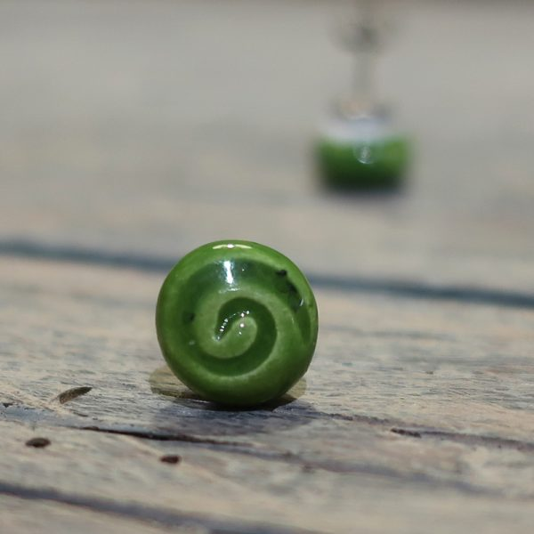 orecchini verdi artigianato made in italy ceramica, green earrings handcrafted ceramic made in italy