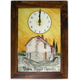 orologio con la tua casa dipinta, clock with painted image of your home
