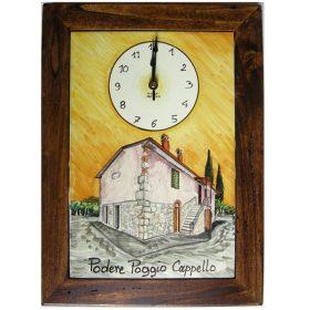 orologio con la tua casa dipinta, clock with painted image of your home