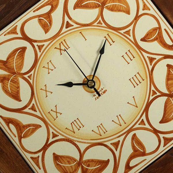 orologio da parete ceramica e legno, wall clock in ceramic and wood