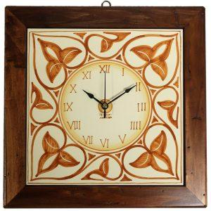 orologio da parete terra di siena, burnt sienna wall clock