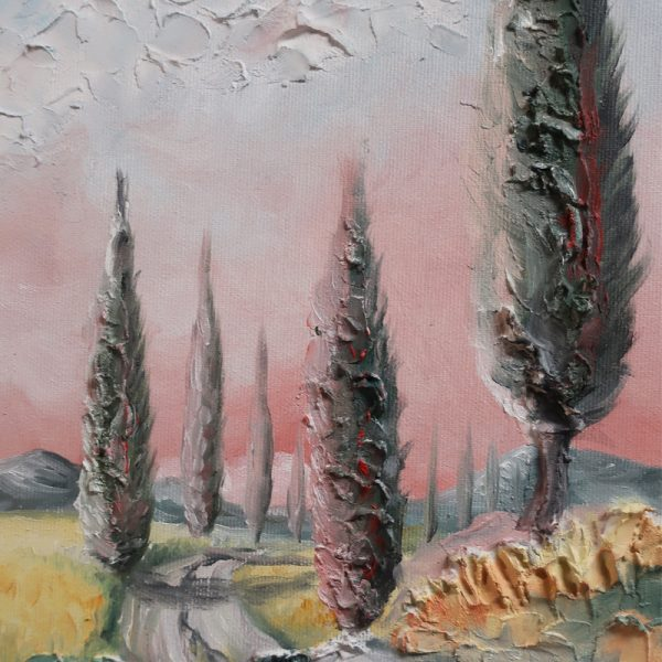 paesaggio quadro olio su tela made in tuscany, oil painting on canvas