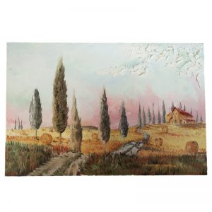 paesaggio toscana olio su tela pezzo unico, tuscan landscape oil painting on canvas