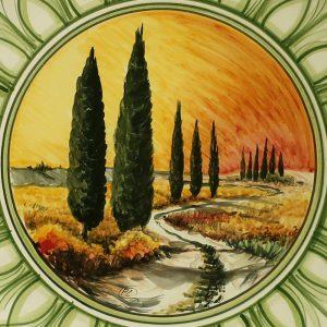 piatti da parete in ceramica dipinto a mano made in italy ceramic plate handpainted