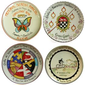 piatti in ceramica premi e riconoscimenti, ceramic plate for prizes and awards