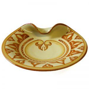 piatto ceramica arancio, orange pottery plate