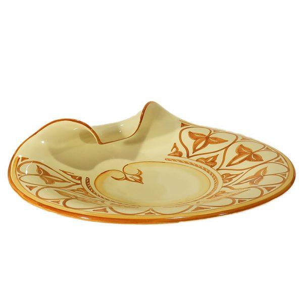 piatto artigianato ceramica sarteano toscana, handcrafted ceramic plate sarteano tuscany