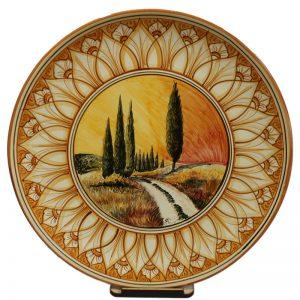 piatto ceramica artistica toscana, plate tuscany ceramic art