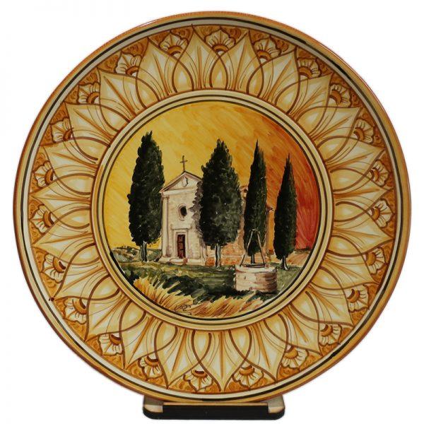 piatto ceramica con cappella della madonna di vitaleta ceramic plate