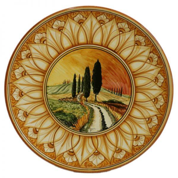 piatto da parete in ceramica artigianato toscana, tuscany handcrafted ceramic plate