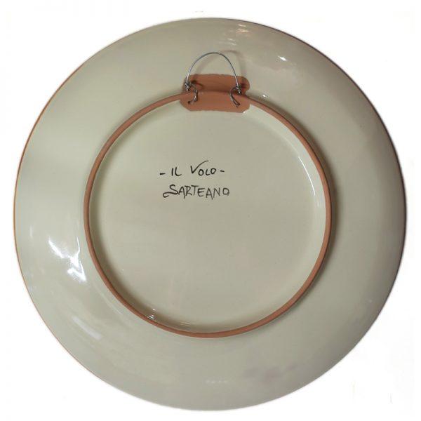 piatto da parete in ceramica, ceramic plate
