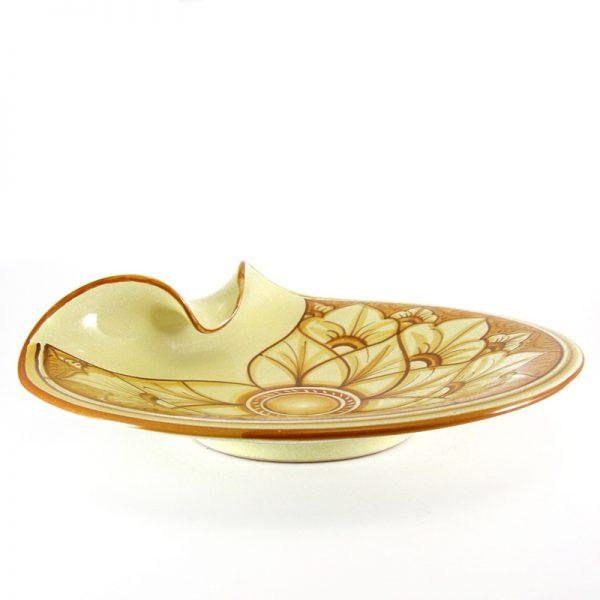 piatto in ceramica dipinto a mano, handpainted centrepiece in ceramic
