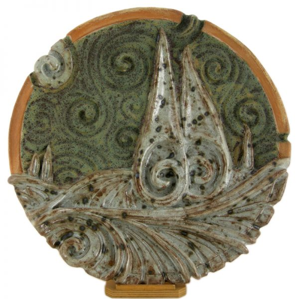 piatto ornamentale in ceramica, ornamental plate in pottery