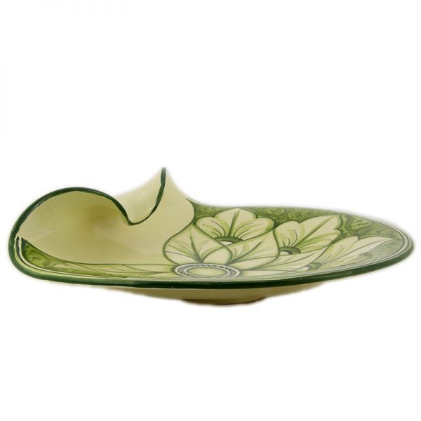 piatto ornamentale verde, green ornamental plate
