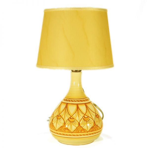 piccola lampada in ceramica artigianato artistico toscana, table lamp in ceramic handcrafted in tuscany
