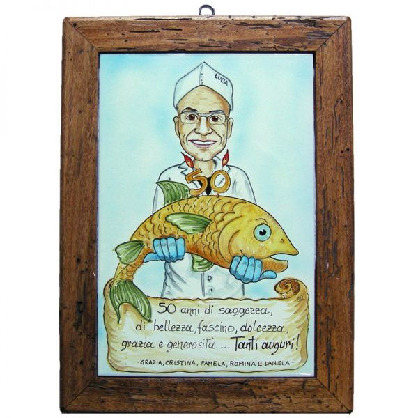 quadro ceramica idea regalo personalizzato compleanno caricatura, ceramic painting cariature custom gift idea birthday