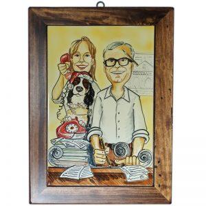 quadro ceramica regalo natale mestiere cane gatto dedica personalizzata auguri, ceramic tile Christmas gift custom job hobby cat dog family