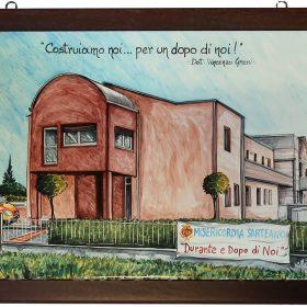 quadro in ceramica per inaugurazione, ceramic tile for opening day