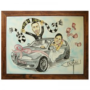 quadro oggi sposi ceramica caricatura matrimonio regalo personalizzato nozze, Wedding personalized gift handpainted ceramic painting marriage