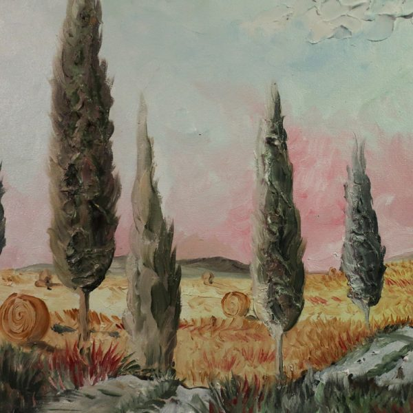 quadro paesaggio dipinto a mano in toscana, painting oil on canvas made in tuscany