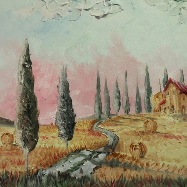 quadro pittura ad olio toscana, oil painting on canvas tuscany