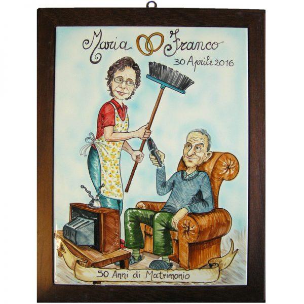 regalo quadro personalizzato Anniversario Matrimonio Nozze Argento Nozze Oro, Wedding Anniversary custom gift