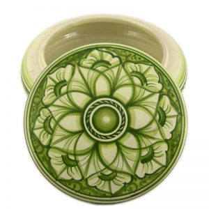 scatola in ceramica verde, green box in ceramic