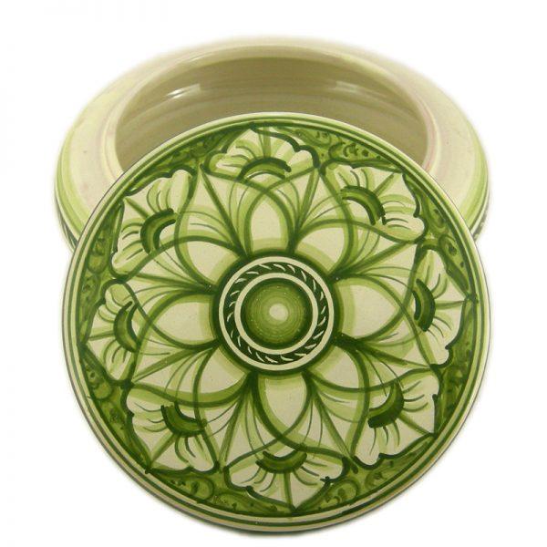 scatola in ceramica verde, green box in ceramic