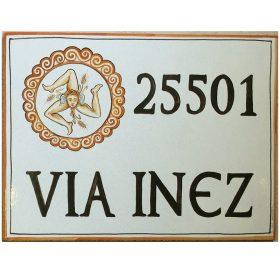 targa in ceramica con stemma, crest on ceramic plate