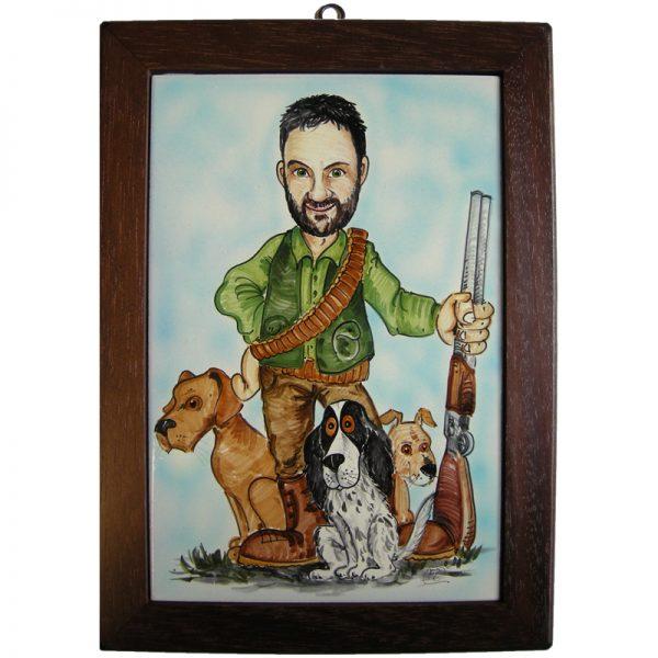 targa personalizzata regalo cacciatore cani, custom tile gift hunter dogs