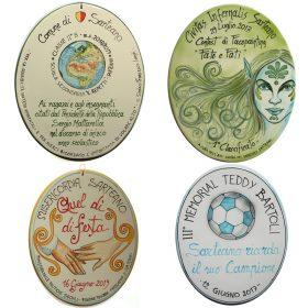 targhe in ceramica personalizzate per eventi, custom ceramic tiles for events