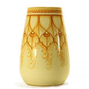 vaso da fiori in ceramica dipinto a mano ceramica toscana, vase for flowers in ceramic handmade in tuscany