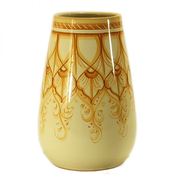 vaso in ceramica dipinto a mano, ceramic vase handpainted made in italy